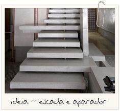 escada original de concreto que vira aparador arquitetura blog assim eu gosto
