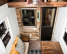 Here's a loft view of the #84tinyhouses Roving Model by @84lumber. I'm really loving that reclaimed wooden siding. #tinyhomesoul #tinyliving #tinyhomes #tinyhouse #tinyhousemovement #vegan #homedesign by tinyhomesoul