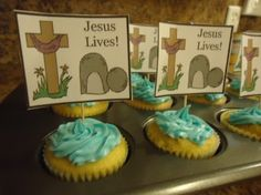 Easter Tomb Resurrection Cupcakes