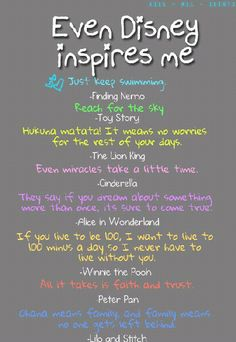 inspirational disney quotes - BUT THE 5TH ONE IS SLEEPING BEAUTY,not Alice in Wonderland. You're welcome. - Disney nerd