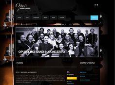 Sito web scuola musicale Opus 1