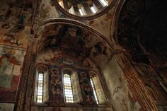 Fresco of the Motsameta Monastery   built in 11th century by the king Bagrat III near to the river Rioni.