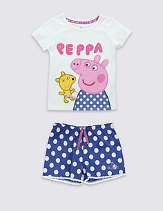 Buy the Pure Cotton Peppa Pig™ Stay Soft Short Pyjamas Years) from Marks and Spencer's range. Pegga Pig, Peppa Pig Outfit, Pig Stuff, Girl Sleeping, Soft Shorts, Birthday Wishlist, Pajama Shorts, Cool Things To Buy, Stuff To Buy