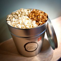 Have you heard of Pop Karma? Outrageous popcorn gifts. Think flavors like White Truffle Cheddar.