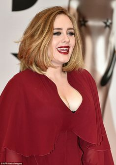 """kesha-rose: """" """"Adele poses on the red carpet after arriving to attend the BRIT Awards 2016 in London on February """" """" Adele Adkins, Adele Haircut, Adele Love, Adele Style, Brit Awards 2016, Adele Photos, Kesha Rose, Divas, Hair Pictures"""