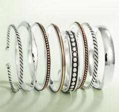 James Avery bangle bracelets.