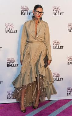 Jenna Lyons Just Revealed Her Favorite Piece From J.Crew's Spring Collection Jenna Lyons Wearing Her Spring Collection at the Ballet Gala Love Fashion, High Fashion, Womens Fashion, Fashion Design, Style Fashion, Fashion Outfits, Street Chic, Street Style, Jenna Lyons