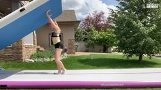 Awesome purple air track - Wholesaleairtrack Video - Can you figure out what size is it? Easy Gymnastics Moves, Gymnastics Stunts, Cheerleading Videos, Tumbling Gymnastics, Gymnastics Skills, Gymnastics Equipment, Gymnastics Videos, Gymnastics Workout, Cheer Moves