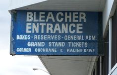 Bleacher Entrance sign at the former Tiger Stadium in Detroit, Michigan Saginaw Michigan, Detroit Michigan, Trouble With The Curve, Detroit Vs Everybody, Tiger Stadium, Detroit Tigers Baseball, Entrance Sign, Signs, Corner