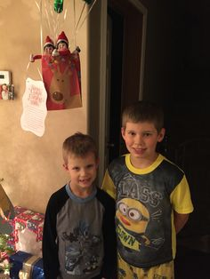 Day 29 2015: the boys say their goodbyes to the elves on Christmas Eve before bed.  https://www.facebook.com/JessLasher/timeline/story?ut=43&wstart=0&wend=1451635199&hash=3948680412727157007&pagefilter=3