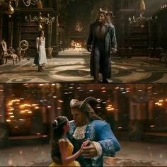 """NEW FOOTAGE source: When the Beast showed Belle the library (""""It is wonderful!"""") ✨ Shot during the ballroom scene. From the snippets I've seen from this scene, I think this will be so beautiful and romantic and its so exciting ✨ Disney Love, Disney Magic, Beast Film, Beauty And The Beast Movie, Dan Stevens, Tale As Old As Time, Luke Evans, Princesas Disney, Disney Animation"""