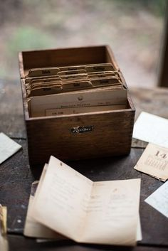 storage box - for recipes, keepsakes, notes to self, calendar items, etc...........