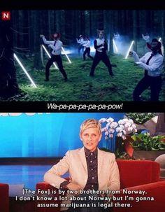 Ellen Degeneres. Funny