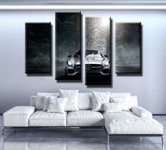 GT Nordic Sea Forest Scenery Canvas Wall Painting Picture Living Home Decor Eye