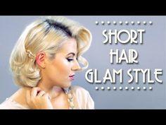 Short Hair Glam Style Tutorial | Milabu - YouTube