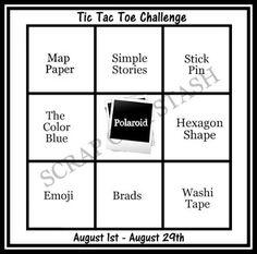 Scrap Our Stash Challenge: August Tic Tac Toe Challenge Reveal with Guest Designer Taru Jehkonen Scrapbook Sketches, Card Sketches, Scrapbook Layouts, Scrapbooking, August Challenge, Challenge Ideas, Happy Hallow, Paper Pin, Tic Tac Toe