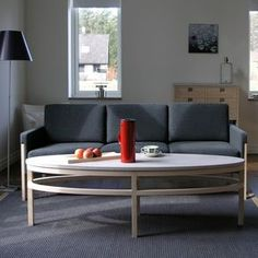 With a simplicity and fineness typical of good Scandinavian design, the Bläse coffee table is indeed a thing of beauty. The Bläse, with its elongated elliptical shape, has a refined lightness thanks to GAD's trademark 'floating' top - a beautiful slice of Gotland limestone. Choose from an oiled oak frame, or blonde birch for a cool look.