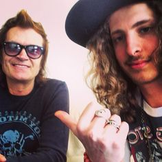 Me and the kid... Andrew Watt. Gettin' ready to write @ my house... April 2013.