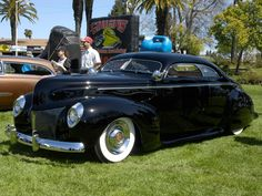 ...and with the dream home, will come the dream car. 1940s merc