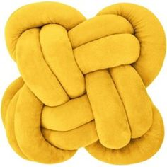 Knoopkussen - Geel - 30x30x20cm Backrest Pillow, Kitchen Decor, Kids Room, Pillows, Cushions, Hem, Toilet, Patio, Products