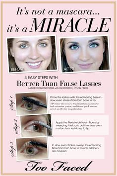 """This is sooo next on my Sephora hit list!! """"Too Faced: Better Than False Lashes"""""""