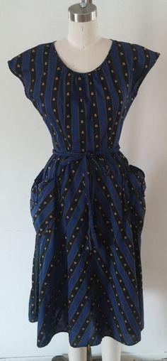 Vintage 1950s/ 40s SWIRL wrap dress on Etsy, £81.80