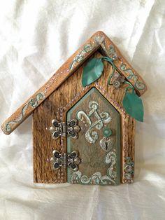 Fairy Door Hand painted & decorated DIY https://www.facebook.com/Debora.Mason.Batz