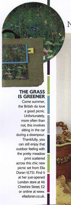 Living etc August edition, Meadow picnic set by Ella Doran