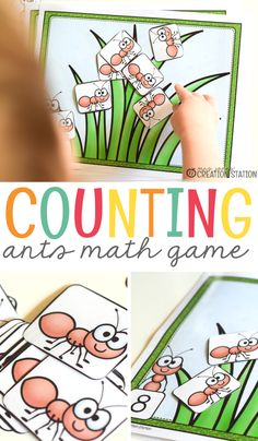 Teachers, I always try to have a counting center in our math tubs so my learners can get continued practice.This ant center is extra fun for my learners, and is perfect for a Spring or Summer themed centers!  Counting Ants Math Game. - Mrs. Jones' Creation Station #MathCenters #Math
