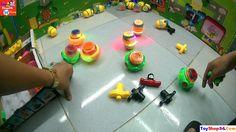 Video Đồ Chơi Cùng Bé - Những Con Quay điện tử các bé chơi cực thích thú...