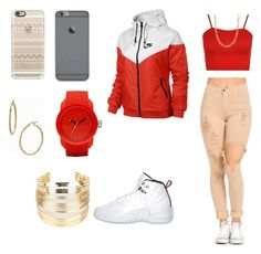 """""""Untitled #34"""" by savannahsernah on Polyvore featuring NIKE, Retrò, WearAll, Casetify, Fremada, Bony Levy, WithChic and Diesel"""