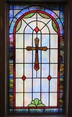 Stained Glass Windows at Everett Springs Baptist Church in Armuchee, GA