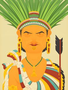 Aztec Emperor by Fitz Patrick