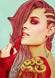 Fashion Illustration  by Ëlodie - 50 Beautiful Fashion Illustrations  <3 <3