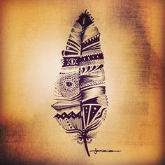 Tatuaż - pióro