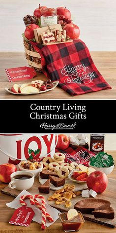 Experience Christmas in the country with gift baskets from our Country Living collection! Filled with festive holiday treats and down-home country charm, you'll be ready for apple picking or sipping hot cocoa by a fire.