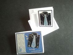 Happy Birthday little gift box with little card inside for men. Stickers and neckties.