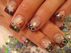 """<< * """"LAST DAYS OF SUMMER NAIL ACRYLIC"""" [[nail art]] like it with out the rock star White Acrylic Nails, Summer Acrylic Nails, Summer Nails, Rock Star Nails, Star Nail Art, Gel Nail Art Designs, Simple Nail Art Designs, Cute Nail Art, Easy Nail Art"""