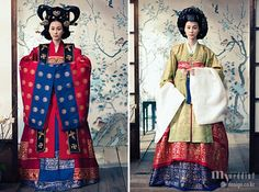Korean queen in traditional clothes hanbok