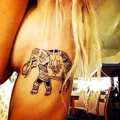 Asian Elephant Tattoo Idea