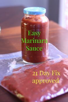 marinarasauce clean marinara sauce, 21 day fix approved,