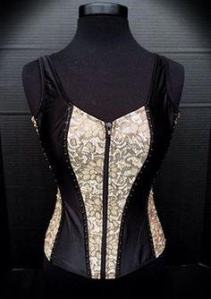 Western Show Vest for sale. Crystal and pearl lace up corset Vest. www.getcolorful.com