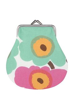 Discover Marimekko's unique patterns and designs for home, fashion and accessories. Textile Patterns, Textile Design, Print Patterns, Marimekko Fabric, Mint Coral, Small Coin Purse, Surface Pattern Design, School Bags, Bag Accessories