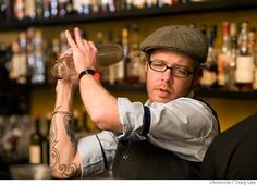 Daniel Hyatt, bartender at Alembic, 1725 Haight Street, shaking up a drink.   photo by Craig Lee / The Chronicle MANDATORY CREDIT FOR PHOTOG AND SF CHRONICLE/NO SALES-MAGS OUT Photo: Photo By Craig Lee
