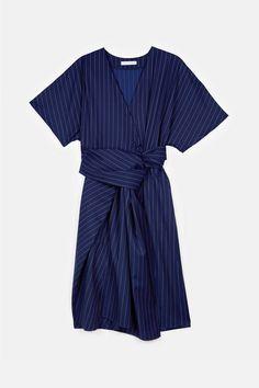 J.W. Anderson — Wrap Drape Dress Royal Blue — THE LINE