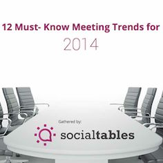 12 Must-Know Meeting Trends for 2014 Event Planning Business, Event Planning Design, Business Events, Corporate Events, Event Design, Party Planning, Event Themes, Event Venues, Event Ideas