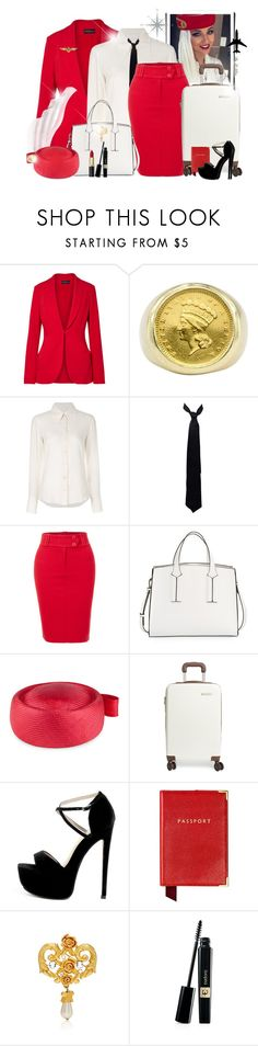"""~Chic Air Hostess ~"" by li-lilou ❤ liked on Polyvore featuring Brandon Maxwell, Chloé, Balenciaga, LE3NO, French Connection, Whiteley, Plane, Briggs & Riley and Aspinal of London"