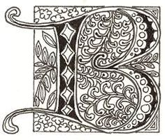 Image result for versal calligraphy letter w