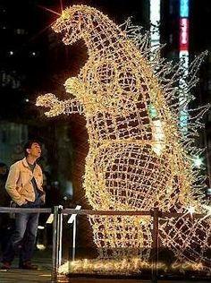 Christmas Godzilla