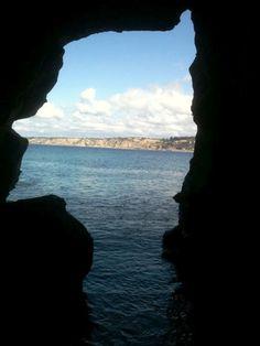 inside the La Jolla cave